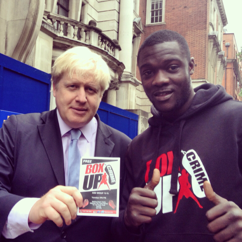 Stephen Addison with Boris Johnson