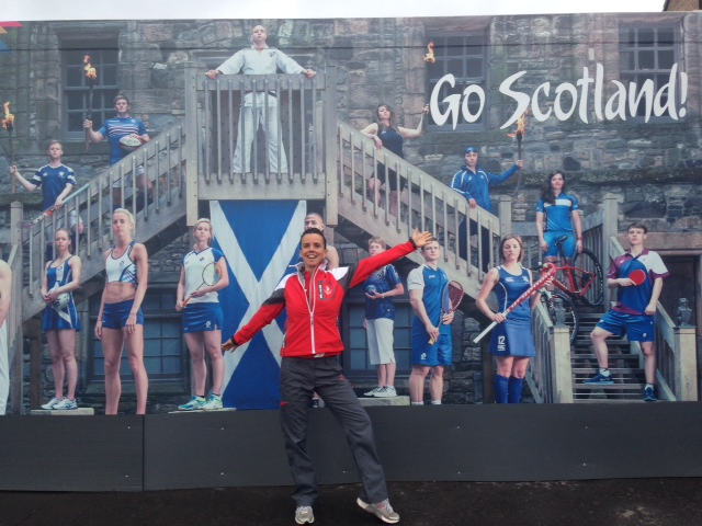 PULSE Sports Therapist Fiona at the 2014 Glasgow Commonwealth Games: