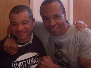 PULSE patient Leroy Nicholas with boxing legend Sugar Ray Leonard