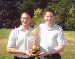 Neil and Brad with Ryder Cup